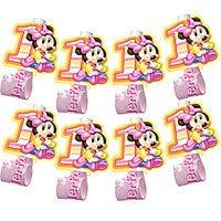 [Disney Babies MINNIE 1st Birthday Favor BLOWOUTS x24] (Disney Minnie Dream Party Blowouts)