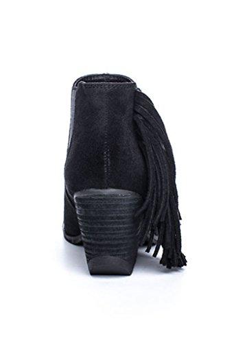 Matisse Womens Lafayette Black Fringe Bohemian Ankle Boot j3KSu8kd