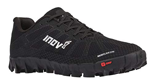 Inov-8 Mudclaw 275 - Trail Running OCR Shoes - Soft Ground - for Obstacle, Spartan Races and Mud Running - Black/Silver 11.5 Women/10 Men