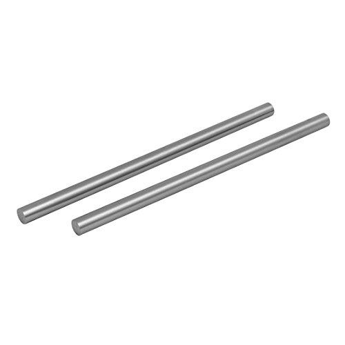 uxcell 10mm Dia 200mm Length HSS Round Shaft Rod Bar Lathe Tools Gray 2pcs