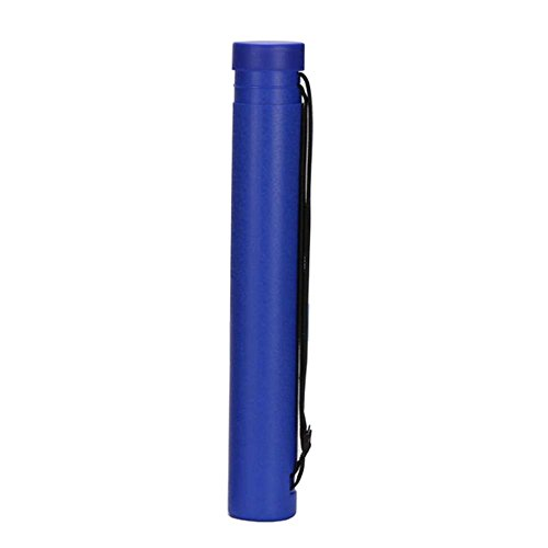 FANCY PUMPKIN Telescopic Drawing Cylinder Plastic Painting Tube Poster Tube Carrying Case with Strap, Blue