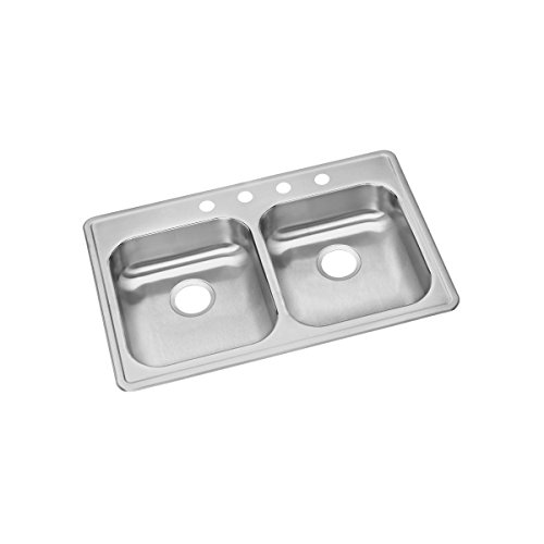 Elkay GE233213 Dayton Equal Double Bowl Drop-in Stainless Steel - Sink Dayton Steel 3 Stainless