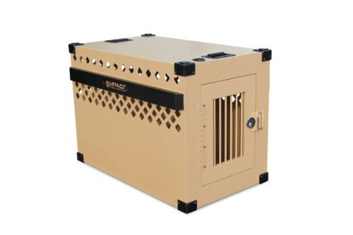 Impact Dog Crate (Stationary), 400 Model, LARGE, Customer Assembled, TAN in Color