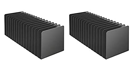 MMF Industries Black 26715MRVBK 5.5 x 15.19 x 5.87 Inches STEELMASTER 15 Compartment Desktop Message Rack