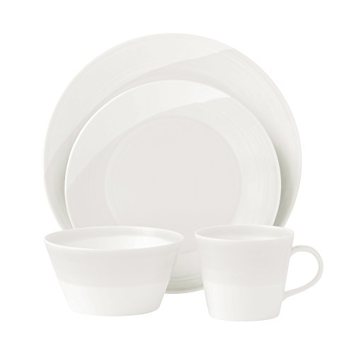 Royal Doulton Dinnerware, 1815 White 16-Piece Set, Service f