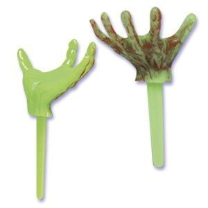 24 ct - Halloween Monster Hand Cupcake Picks -