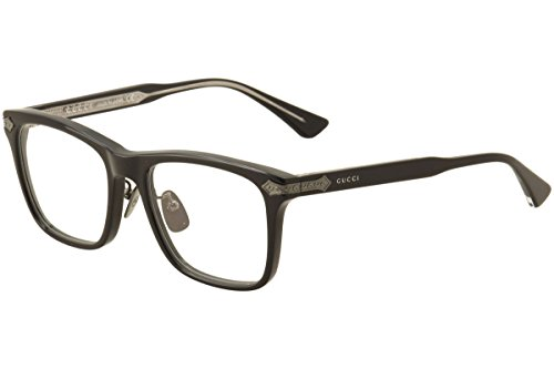 Gucci Men's Eyeglasses GG0069O GG/0069O 005 Black Full Rim Optical Frame - Frames Titanium Eyeglasses Gucci