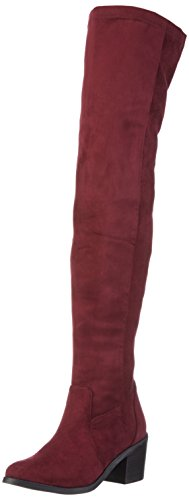 Buffalo London 414-6176 Elastic IMI Suede, Women's Ankle Boots Red - Rot (Burgundy 01)