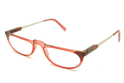 ColorViper Classic half eye reader Unisex composite spring temple Reading Glasses (red, - Reading Size Glasses Half