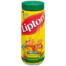 Lipton Instant Decaffeinated Unsweetened Iced Tea Mix - 3 oz. jar, 6 jars per case