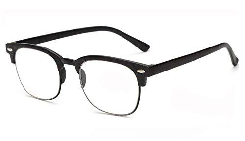 Unisex Mens Ladies Half Frame Retro Reading Glasses +1 +1.5 +2.0 +2.5 +3.0 - Fashioned Old Frames Glasses