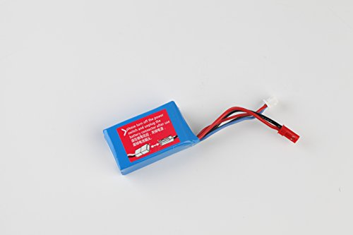 High Battery Speed (FSTgo 7.4V 1100mAh High Power Li-ion Rechargeable Battery Packs for High Speed RC Car A949 A959 A969 A979 K929 Series)