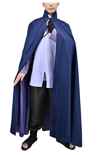 DAZCOS Adult US Size Japanese Anime Uchiha Sasuke Cosplay Costume (Men Large) Grey]()
