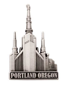 Ringmasters LDS Mens Portland Oregon Temple Silver Steel Tie Tac//Tie Pin for Boys
