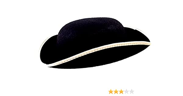 Amazon.com  Jacobson Hat Company Adult Permalux Felt Tricorn Hat- Large   Clothing 1b2edce7dc77