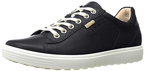 ECCO Women's Soft Fashion Sneaker, Black, 39 EU/8-8.5 M US (Womens Athletic Shoes Ecco)