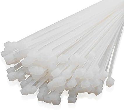 colore: Bianco Falcon Workshop Supplies confezione da 100 Fascette stringicavo 3,6 x 140 mm