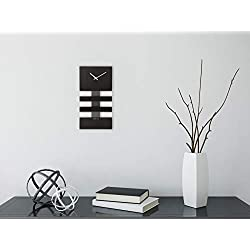 Unek Goods NeXtime Bold Stripes Wall Clock, Black
