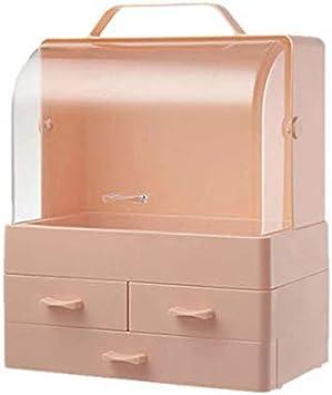 Yecia Caja de almacenamiento transparente de almeja de 3 cajones ...