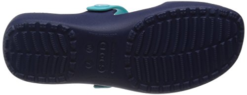 Crocs Bout Sandales Bleu pool Femme Coretta nautical Ouvert Sandal Navy at7pqrxwa