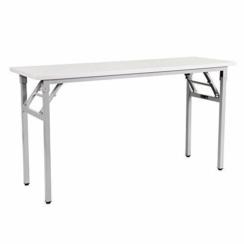 Sunon Training Table 55'' Computer Desk Office Workstation Folding Desk with Full Assembly Adjustable Desk(Light Grey) by Sunon