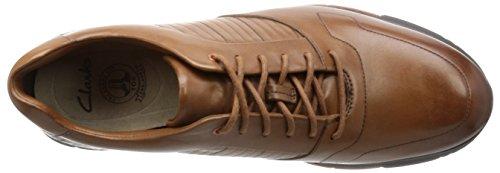 Clarks Tynamo Race, Zapatos de Cordones Derby para Hombre Marrón (Tan Leather)