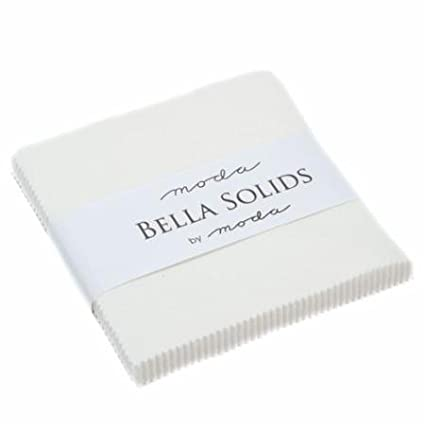 Moda Bella Solids Off White Charm Pack; 42 - 5 Squares Moda Classic Moda United Notions 9900PP-200