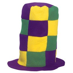 Mardi Gras Check Stove Top Hat]()
