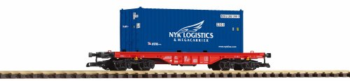 PIKO G SCALE MODEL TRAINS - NYK LOGISTIC CONTAINER CAR - 37726