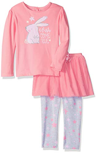 (Gerber Girl's Standard Shirt and Tutu Legging Set, Bunny,)