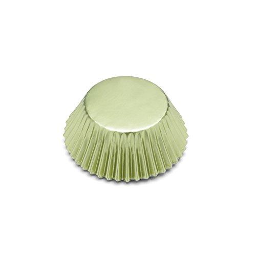 Fox Run 8005 Light Green Foil Disposable Bake Cups, 3 x 3 x 1.25 inches,