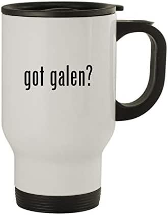 got galen? - Stainless Steel 14oz Travel Mug, White