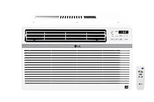 LG 24,500 BTU 230V Window-Mounted Air Conditioner with Remote Control, White
