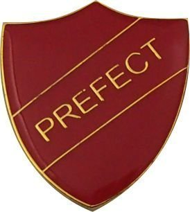Prefect Badge (red) with FREE Postage