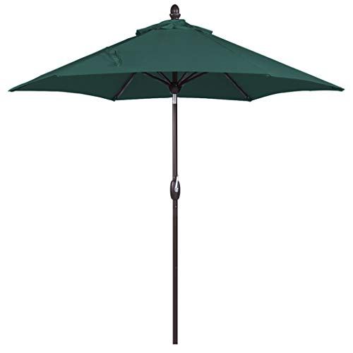 SORARA Patio Umbrella Outdoor Market Table Umbrella with Push Button Tilt&Crank&Umbrella Cover, 9 Feet, Green Review