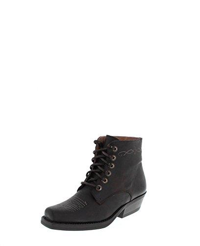 Fashion Boots Stiefelette BU1010 Braun Damen Western Schnürstiefelette