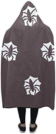 Rtosd Couverture à Capuche Spider Art Blanket Wrap Capuche Comfotable 60x50 Pouces