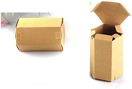 XLPD 30 Piezas de Papel Kraft Hexagonal, Caja de té pequeña, Cajas de cartón para Embalaje, Caja de Regalo, Embalaje de Papel, Caja de Alimentos: Amazon.es: Hogar