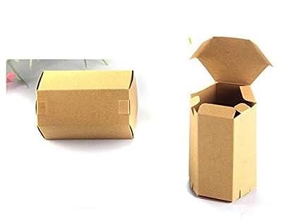 d78c22c10c55 Amazon.com: XLPD 30Pcs Hexagon Kraft Paper Party Gift Small Tea Box ...