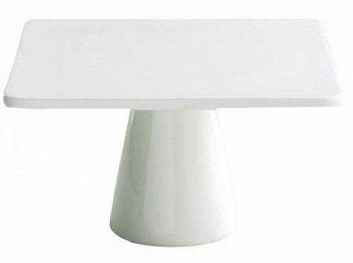 BIA Cordon Bleu 11-Inch by 6-1/4-Inch Porcelain Square Cake Stand, White (Porcelain Cordon Bleu Plates)