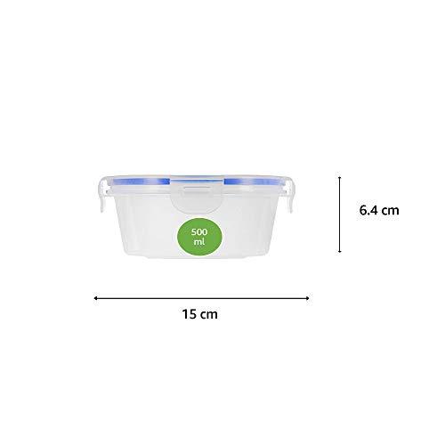 Amazon Brand – Solimo Plastic Kitchen Storage Container Set, 7-Pieces, Blue