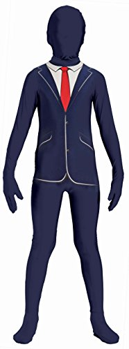 Forum Novelties 71822 Disappearing Man Patterned Stretch Body Suit Costume, One Size