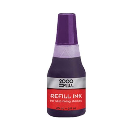 PURPLE water based Re-fill Ink for Cosco 2000 Plus Self-Inking Stamp refill 25cc`