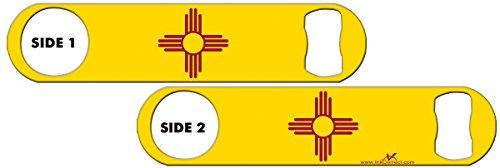 Inked Bottle Opener Flag: New Mexico