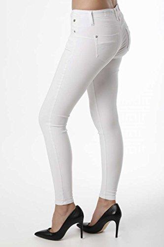 Skinny Jeans Porter T Freeman Bianco Donna tEqpn0