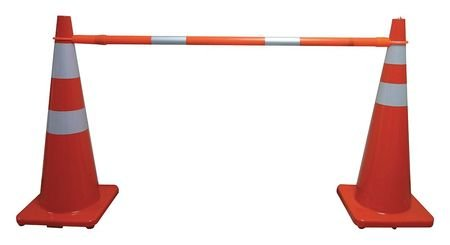 Telescoping Cone Bar, Orange, 60-108 In L