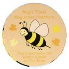 Magic Towel Bumble Bee Expanding Face Cloth ootb 31/4012 bumble bee
