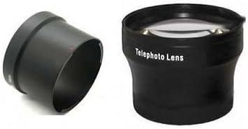 Tele TelePhoto Lens LADC58L Tube Adapter for Canon Powershot G15 Bundle Camera