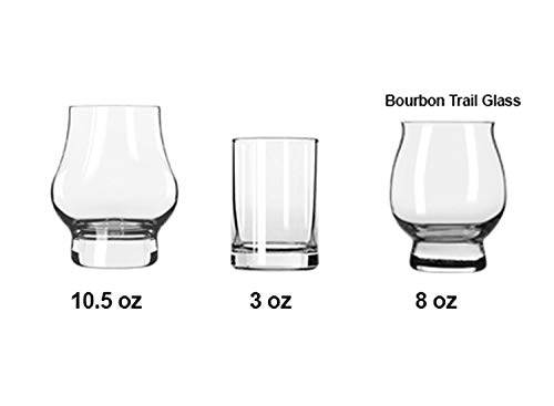 Laser Engraved Personalized Oak Bourbon Tasting Tray with glasses by Precision Wood Carving (Image #4)