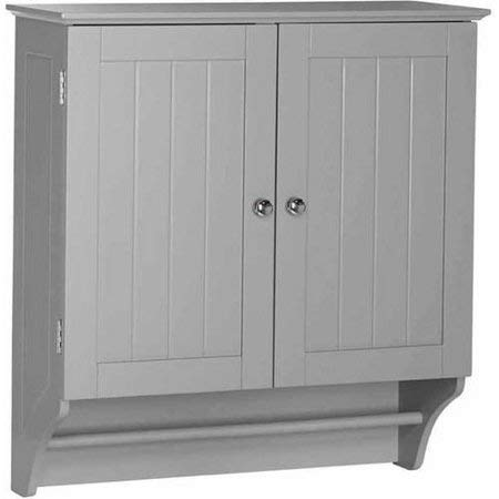 2-Door Over The Toilet Wall Cabinet, Мirrored Кnobs, Wood, Rectangle, Perfect to - Bathroom Mirrored Arched Wall Cabinet